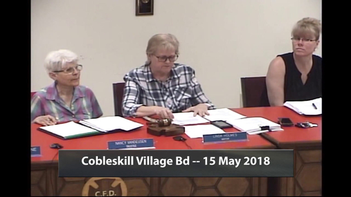 Cobleskill Village Bd -- 15 May 2018