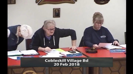 Cobleskill Village Bd -- 20 Feb 2018