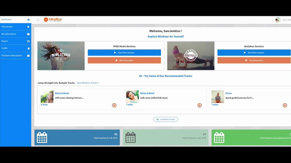Getting started: MindRazr Web App