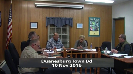 Duanesburg Town Bd -- 10 Nov 2016