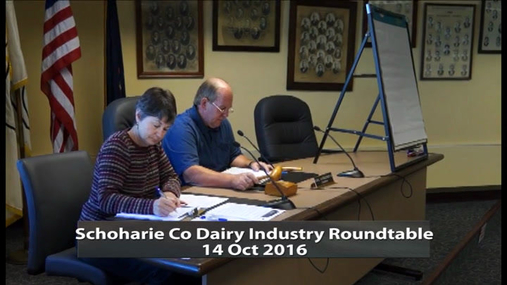 Schoharie Co Dairy Industry Roundtable -- 14 Oct 2016