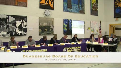 Duanesburg BOE --11-15-2016
