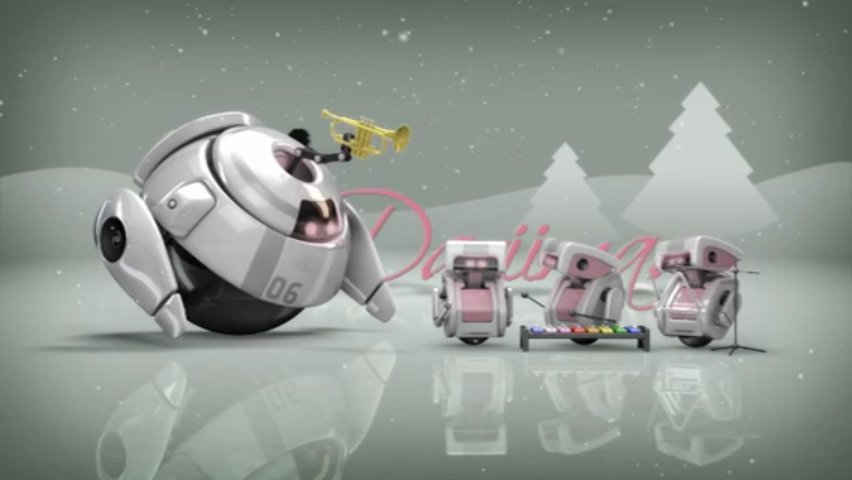 Make adorable robotic Christmas HD video