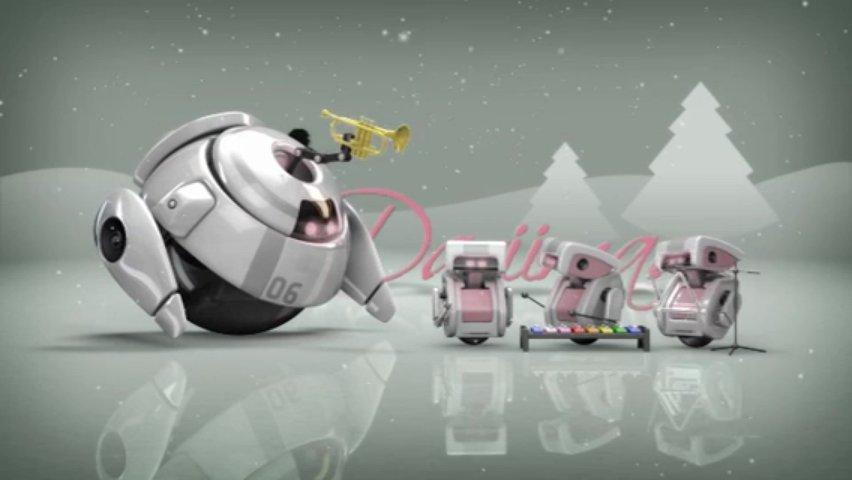 Make adorable robotic Christmas HD video