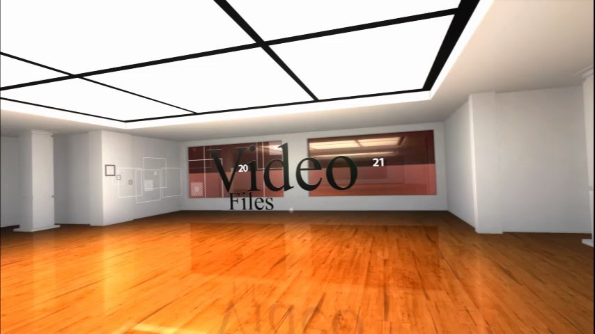 Create 3d video or image gallery portfolio
