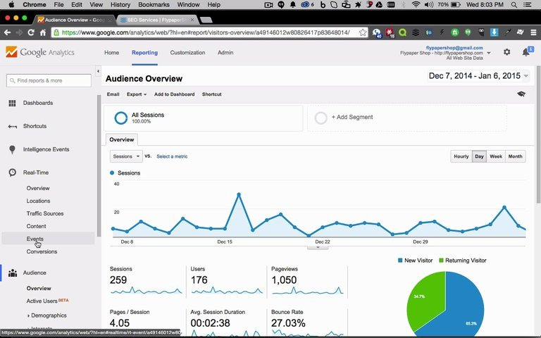 Setup Event Tracking for 3 Links in Google Analytics