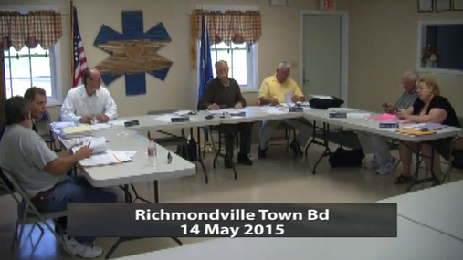Richmondville Town Bd 14 May 2015