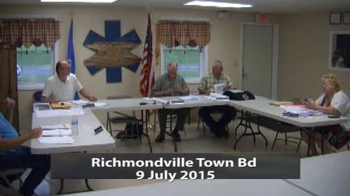 Richmondville Town Bd 9 July 2015
