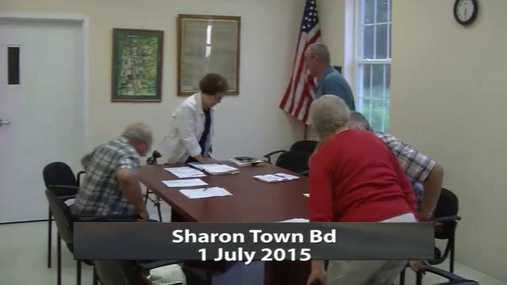 Sharon Town Bd 1 July 2015