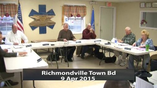 Richmondville Town Bd 9 Apr 2015 Pt.1