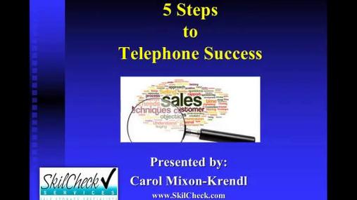EST - 5 Steps to Telephone Success - SkilCheck Services.wmv