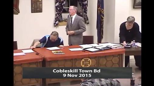 Cobleskill Town Bd 9 Nov 2015