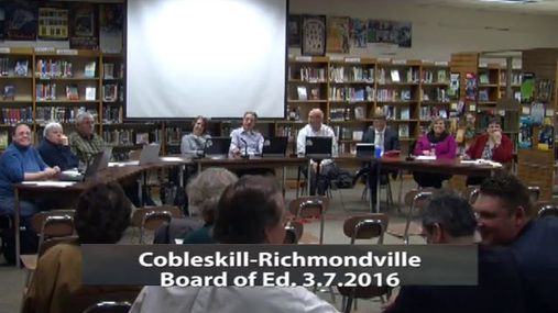 CRCS Bd of Ed --  Mar 7 2016