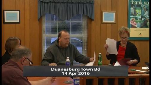 Duanesburg Town Bd -- Apr 14 2016