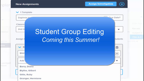 Enhancement: Student Group Editing