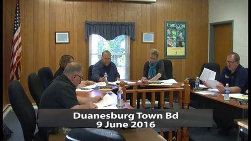 Duanesburg Town Bd -- 9 June 2016