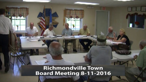 Richmondville Town Board -- Aug -11-2016