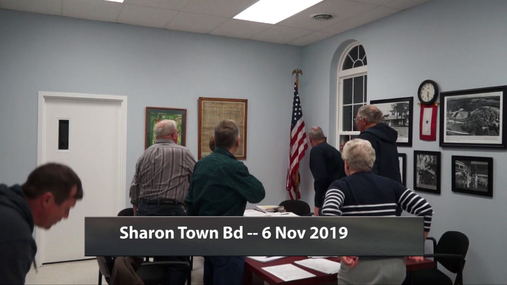 Sharon Town Bd -- 6 Nov 2019