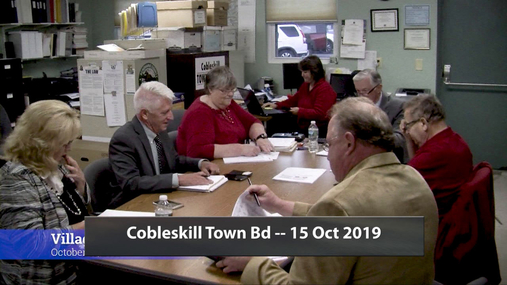 Cobleskill Town Bd -- 15 Oct 2019