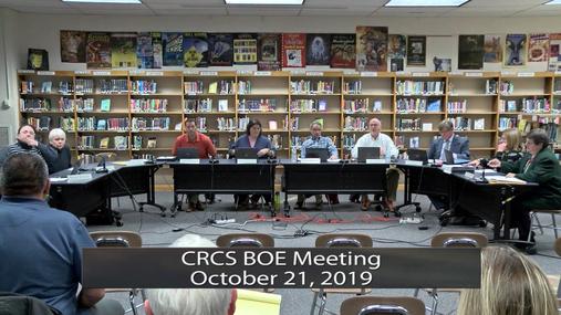 CRCS BOE -- October 21, 2019