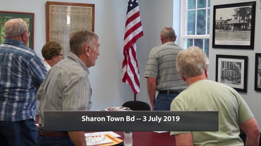 Sharon Town Bd -- 3 July 2019