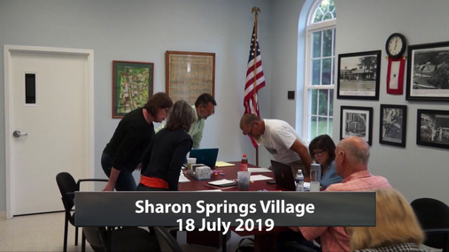 Sharon Springs Village Bd -- 18 July 2019
