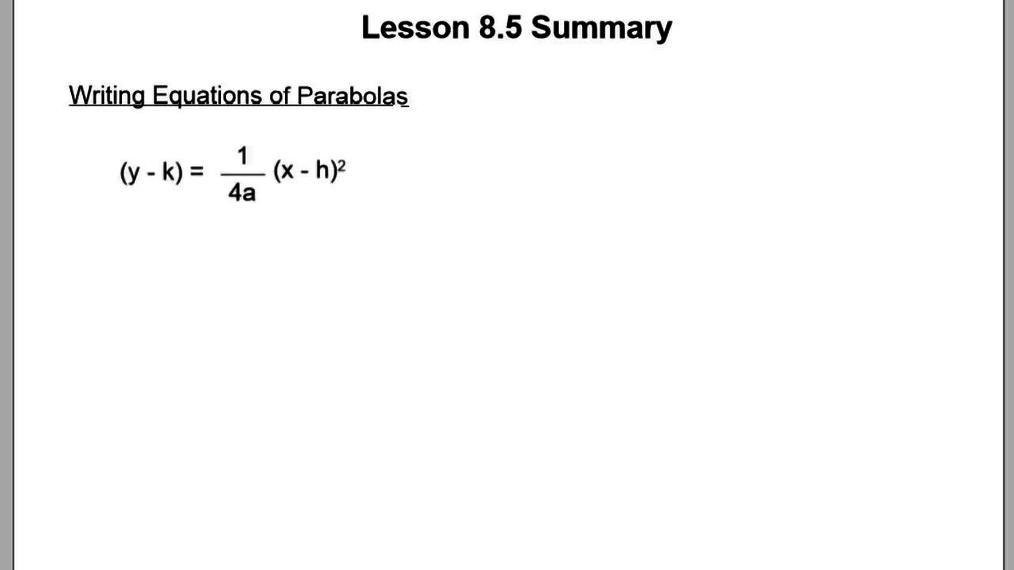 8.5 Lesson Summary.vid