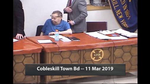 Cobleskill Town Bd -- 11 Mar 2019