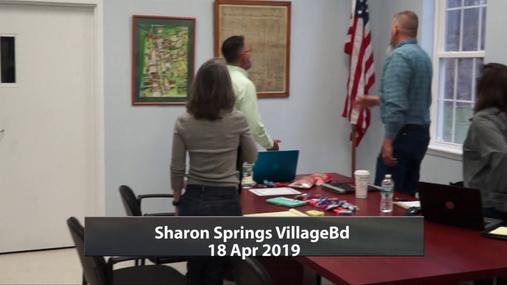 Sharon Springs Village Bd -- 18 Apr 2019