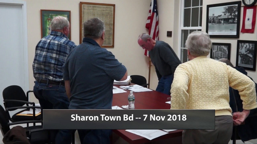 Sharon Town Bd -- 7 Nov 2018