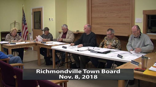 Richmondville Twn. Brd.-- Nov.8,2018