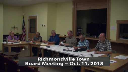 Richmondville Town Board -- Oct. 11, 2018