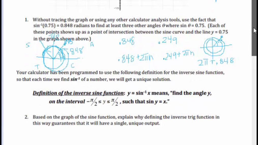 SM III 6.15 Restricting the Domain of Inverse Trig Functions.mp4