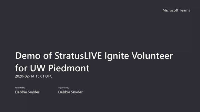 Demo of StratusLIVE Ignite Volunteer for UW Piedmont.mp4