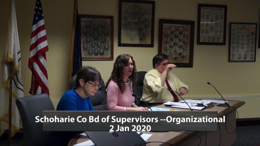 Schoharie Co Bd of Supervisors Organizational -- 2 Jan 2020