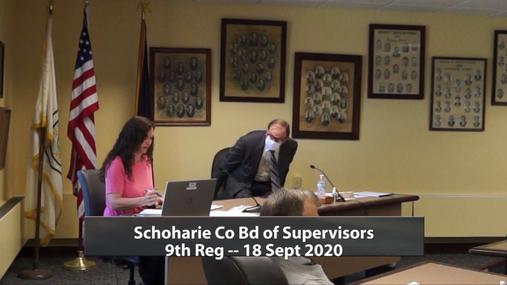 Schoharie Co Bd of Supervisors 9th Reg -- 18 Sept 2020