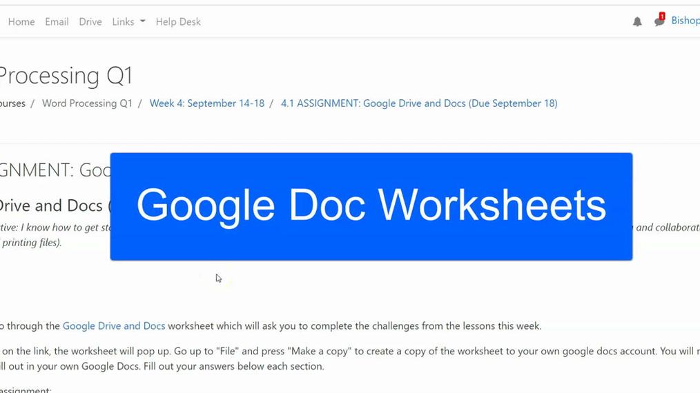 HOW TO: Use Google Doc Worksheets