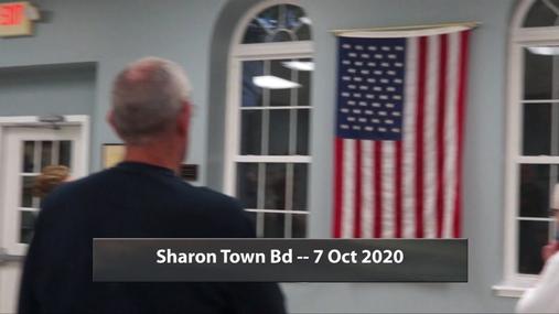 Sharon Town Bd -- 7 Oct 2020