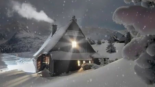 Weekendhouse in the snow