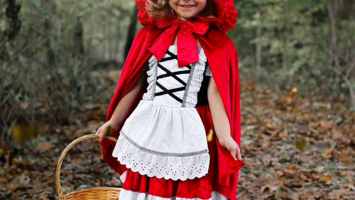 Little Red Riding Hood at the forest