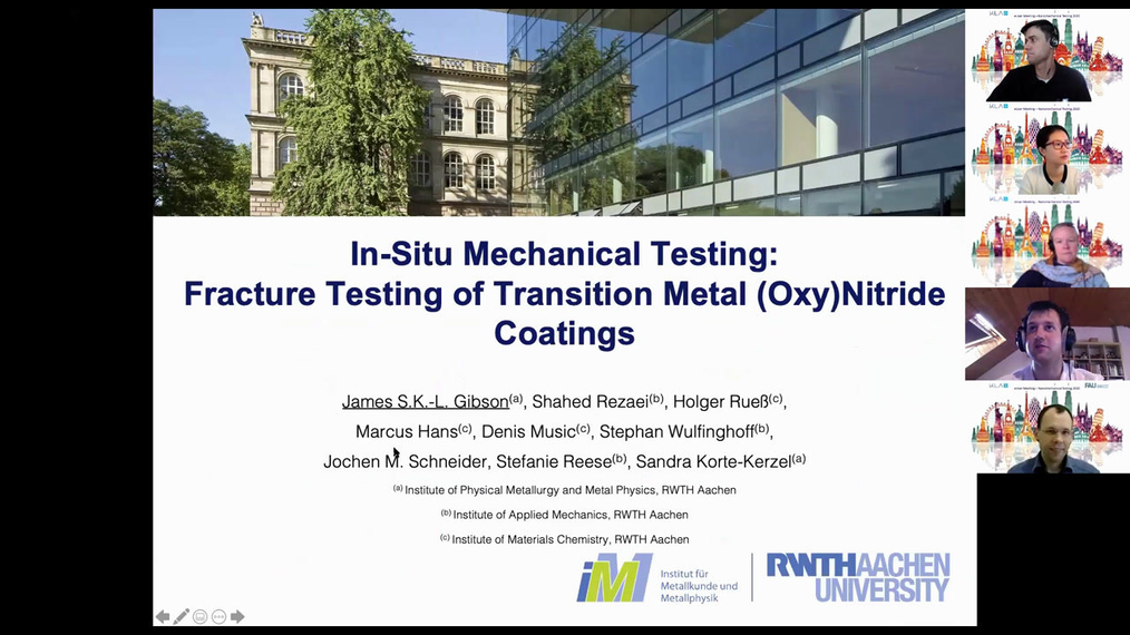 Dr James Gibson: In-Situ Mechanical Testing-Fracture Toughness of Transistion Metal Oxy-Nitride Coatings