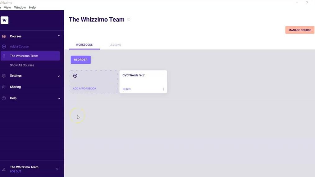 Workbook Builder Page