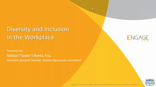 July 2020 HR Webinar - Diversity & Inclusion