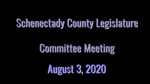 Schenectady Co Legislature -- 3 Aug 2020