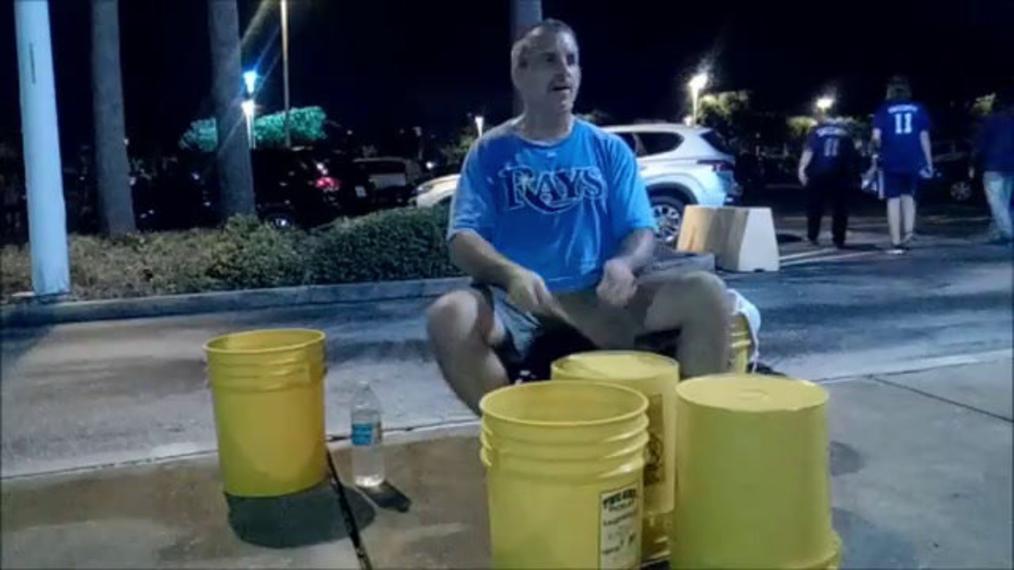 Most insane Bucket Drummer in the World Chris Harris DCI drummer is the Boss of Bucket drummin.mp4