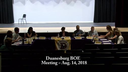 Duanesburg BOE -- Aug. 14, 2018