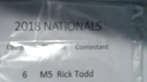 Rick Todd M5 Round 1 Pass 2