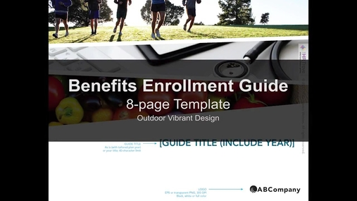 Benefits Enrollment Guide 8-page Outdoor Vibrant design by The HR Trove