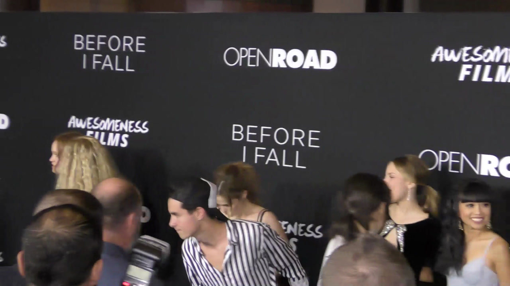 Before I Fall Cast at the Before I Fall Premiere at DGA Theatre in West Hollywood.mp4