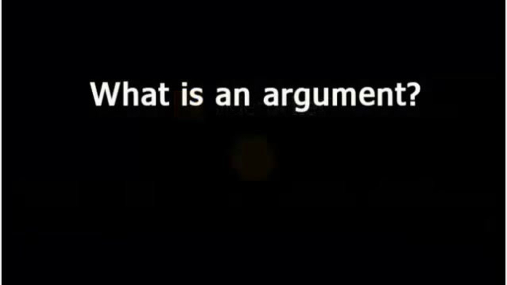 What is an Argument.mp4